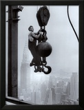 Construction Worker on the Empire State Building Art