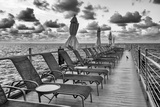 Pontoon with Deck Chairs - Key West - Florida Photographic Print by Philippe Hugonnard