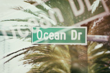 Instants of Series - Ocean Drive Sign - Miami Beach - Florida - USA Photographic Print by Philippe Hugonnard