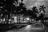 Ocean Drive by Night - Miami Photographic Print by Philippe Hugonnard