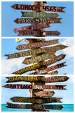 Triptych Collection - Destination Signs - Key West - Florida Photographic Print by Philippe Hugonnard