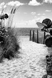 Boardwalk on the Beach - Miami - Florida Fotografie-Druck von Philippe Hugonnard