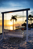 Swing Beach at Sunset Photographic Print by Philippe Hugonnard