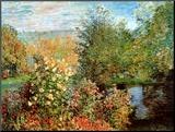 Stiller Winkel im Garten von Montgeron Mounted Print by Claude Monet