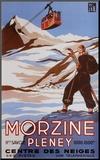Morzine Mounted Print by Bernard Villemot