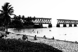 Old Bahia Honda Bridge Florida Keys - Bridges Roads Photographic Print by Philippe Hugonnard