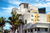 Art Deco Architecture of Miami Beach - Marseilles Hotel - Florida Photographic Print by Philippe Hugonnard