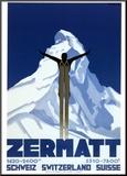 Zermatt Mounted Print by Pierre Kramer