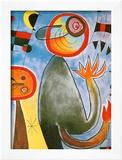 Echelles en Roue de Feu Traversant Poster by Joan Miró