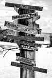 Directional Fun Signs on the Beach - Florida Photographic Print by Philippe Hugonnard