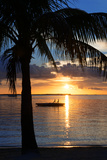 Sunset Landscape with Floating Platform - Miami - Florida Reproduction photographique par Philippe Hugonnard