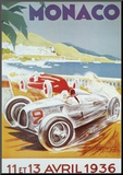 8th Grand Prix Automobile, Monaco, 1936 Mounted Print by Geo Ham