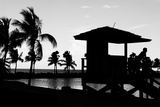 Life Guard Station at Sunset - Miami - Florida Photographic Print by Philippe Hugonnard