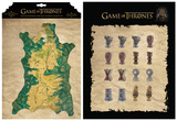 Game of Thrones - Map Marker Magnet Set Magnet Set