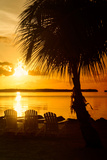 Three Chairs at Sunset - Florida Photographic Print by Philippe Hugonnard