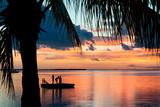 Sunset Landscape with Floating Platform - Florida Photographic Print by Philippe Hugonnard