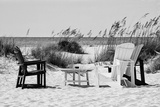 Four Chairs on the Beach - Florida Fotografisk tryk af Philippe Hugonnard