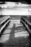Boardwalk on the Beach at Sunset Fotografisk tryk af Philippe Hugonnard