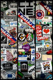 Triptych Collection - Urban Stickers - Street Art US - Key West - Miami Photographic Print by Philippe Hugonnard