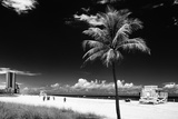 Miami Beach with Life Guard Station - Florida - USA Photographic Print by Philippe Hugonnard