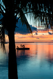 Sunset Landscape with Floating Platform - Florida Photographic Print by Philippe Hugonnard