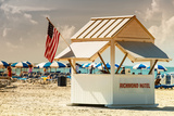 Private Beach Miami Beach - Richmond Hotel South Beach - Florida Photographic Print by Philippe Hugonnard