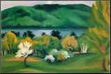 Lake George, Early Moonrise Spring, 1930 Mounted Print by Georgia O'Keeffe