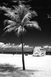South Miami Beach Landscape with Life Guard Station - Florida - USA Photographic Print by Philippe Hugonnard