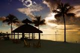 The Beach Hut at Sunset - Florida - USA Photographic Print by Philippe Hugonnard