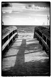 Boardwalk on the Beach at Sunset Papier Photo par Philippe Hugonnard