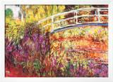 The Japanese Bridge Prints by Claude Monet