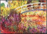 The Japanese Bridge Mounted Print by Claude Monet