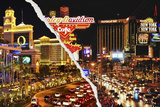 Dual Torn Posters Series - Vegas Photographic Print by Philippe Hugonnard