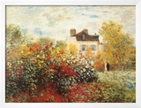 The Artist's Garden in Argenteuil Print by Claude Monet