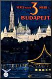Budapest Mounted Print by Polya Tibor