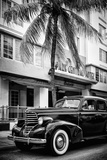 Classic Antique Car of Art Deco District - Park Central Hotel on Ocean Drive - Miami Beach Photographic Print by Philippe Hugonnard