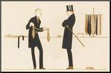 Gentleman Chooses a Tie to Purchase Mounted Print by Bernard Boutet De Monvel
