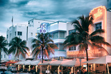 Colorful Ocean Drive - South Beach - Miami Beach Art Deco Distric - Florida Photographic Print by Philippe Hugonnard