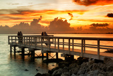 The Pier at Sunset Lovers Photographic Print by Philippe Hugonnard