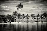Paradisiacal Beach overlooking Downtown Miami - Florida Papier Photo par Philippe Hugonnard