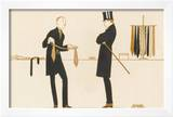 Gentleman Chooses a Tie to Purchase Framed Giclee Print by Bernard Boutet De Monvel