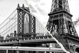 Dual Torn Posters Series - Paris - New York Reproduction photographique par Philippe Hugonnard