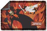 Samurai Jack - Epic Battle Woven Throw Throw Blanket