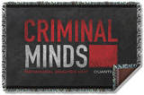 Criminal Minds - Logo Woven Throw Throw Blanket