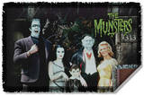 Munsters - Family Woven Throw Throw Blanket
