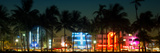 Buildings Lit Up at Dusk of Ocean Drive - Miami Beach - Florida Photographic Print by Philippe Hugonnard