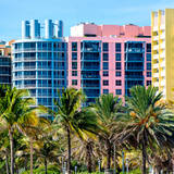 Art Deco Colors Architecture of Miami Beach - South Beach - Florida Photographic Print by Philippe Hugonnard