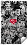I Love Lucy - Faces Fleece Blanket Fleece Blanket