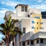 Art Deco Architecture of Miami Beach - Marseilles Hotel - Florida Photographic Print by Philippe Hugonnard