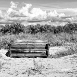 Wooden Bench overlooking a Florida wild Beach Photographic Print by Philippe Hugonnard
